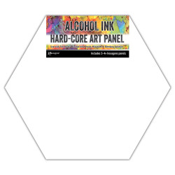 Hexagon Hard-Core Art Panel, Ranger Alcohol Ink - 789541069737