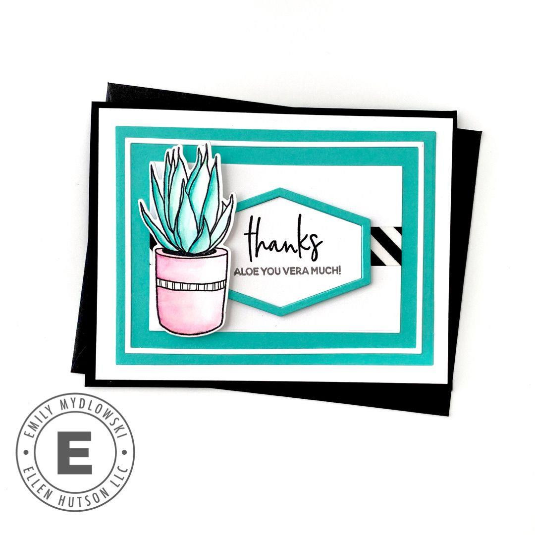 Succulent Sentiments by Julie Ebersole, Essentials by Ellen Clear Stamps -