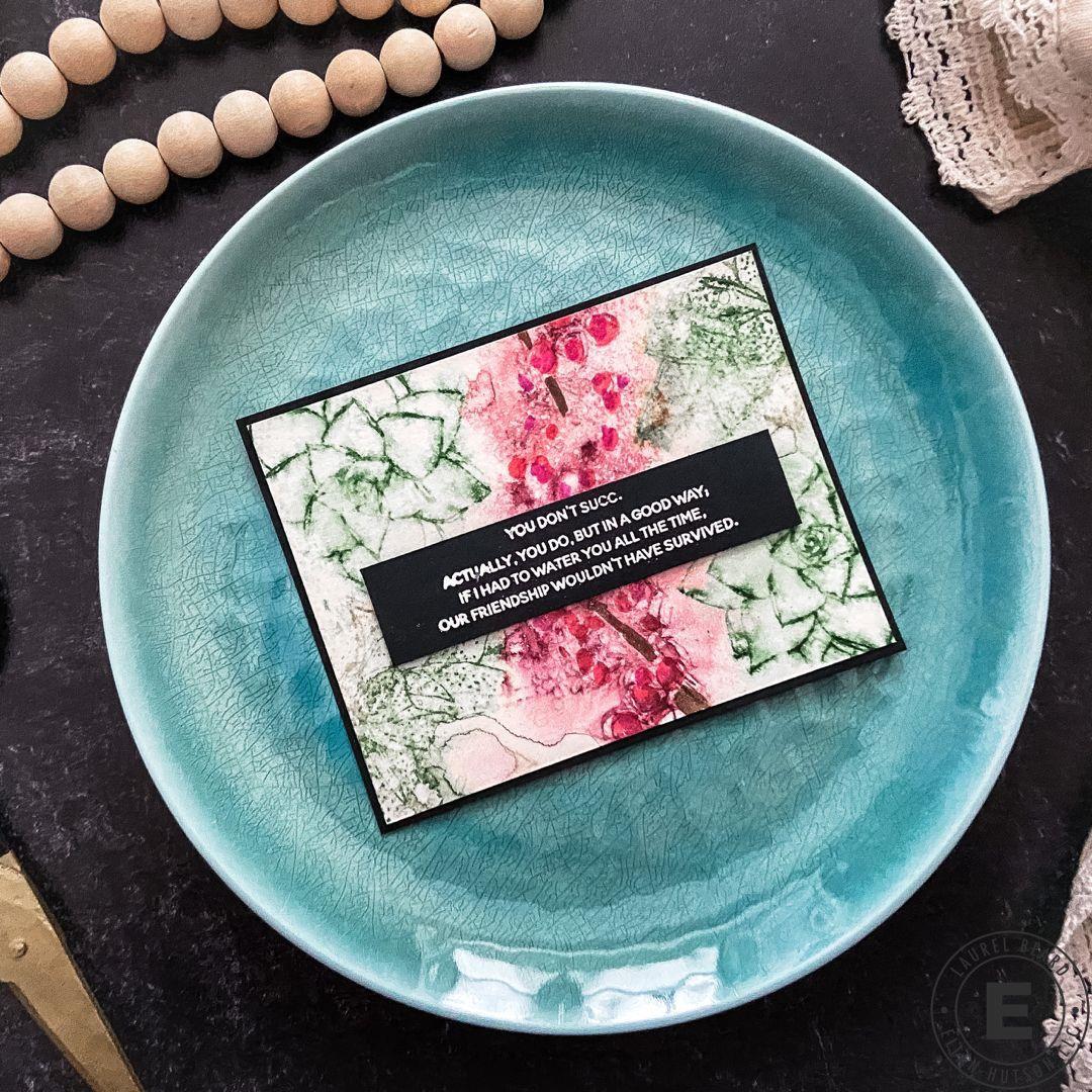 Succulent Sentiments by Julie Ebersole, Essentials by Ellen Clear Stamps -