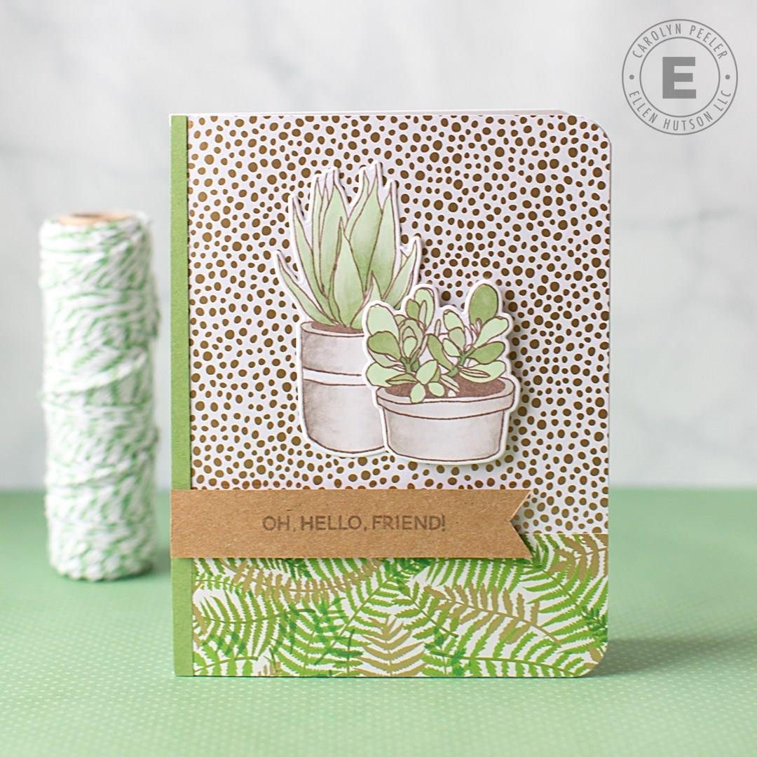 Modern Succulents by Julie Ebersole, Essentials by Ellen Clear Stamps -