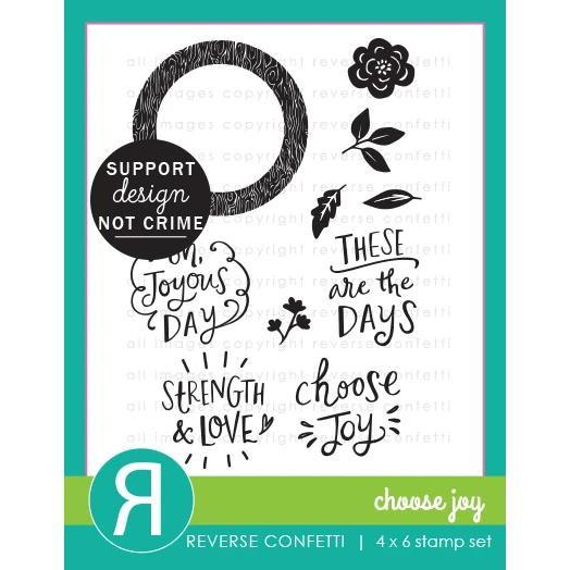 Choose Joy, Reverse Confetti Clear Stamps -