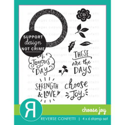 Choose Joy, Reverse Confetti Clear Stamps -