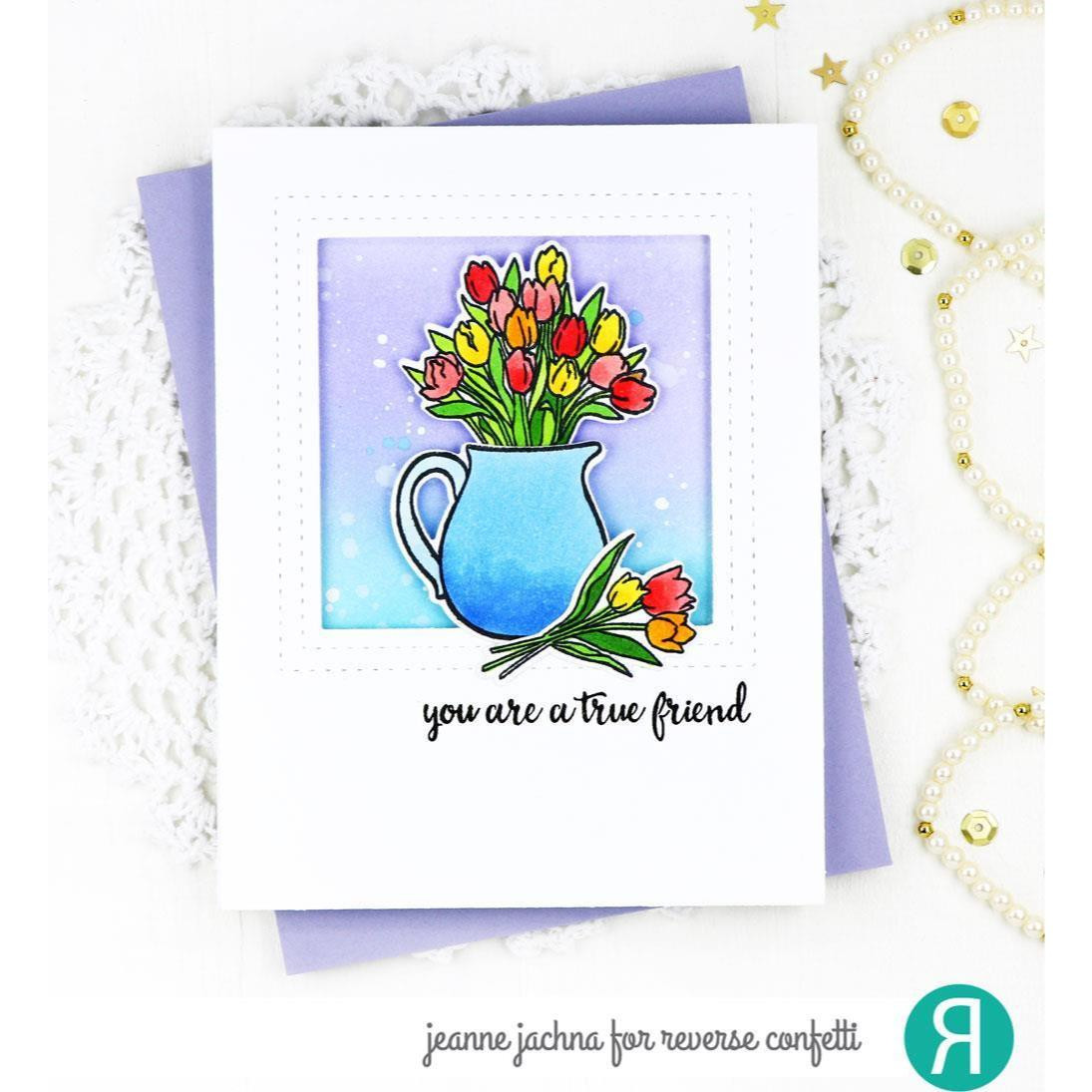Tulips, Reverse Confetti Clear Stamps -