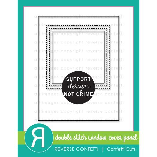 Double Stitch Window Cover Panel, Reverse Confetti Cuts -