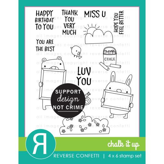 Chalk It Up, Reverse Confetti Clear Stamps -