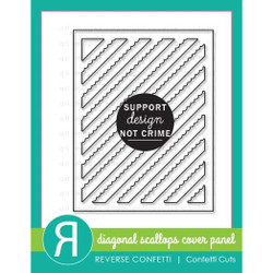 Diagonal Scallops Cover Panel, Reverse Confetti Cuts -