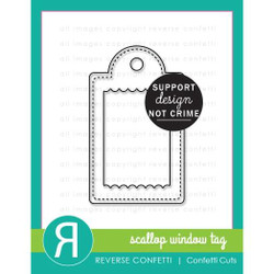 Scallop Window Tag, Reverse Confetti Cuts -
