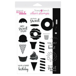 Sweet Stuff, Rina K Designs StampnStencil Clear Stamps -
