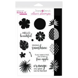 Sending Sunshine, Rina K Designs StampnStencil Clear Stamps -