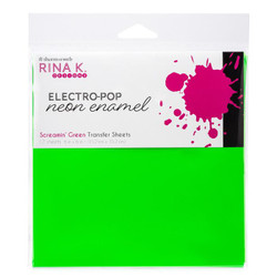 Screamin' Green, Rina K Designs Neon Enamel Transfer Sheets -