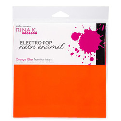 Orange Glow, Rina K Designs Neon Enamel Transfer Sheets -