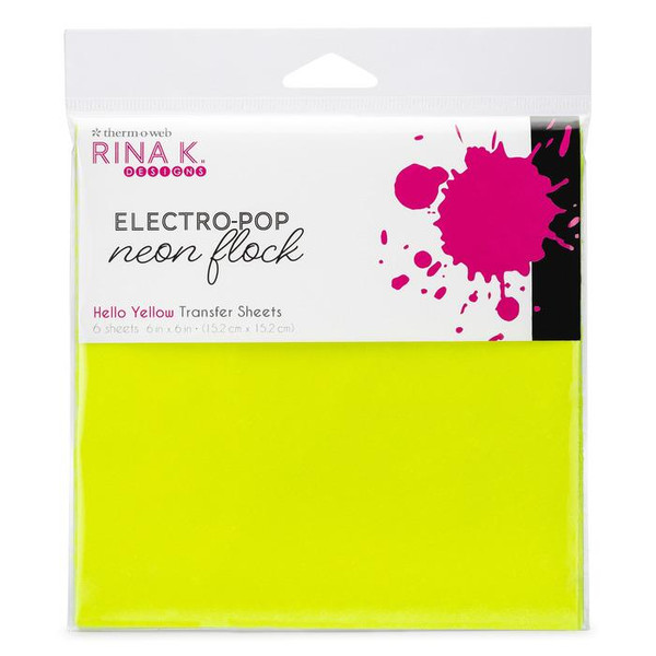 Hello Yellow, Rina K Designs Flock Transfer Sheets -