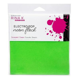 Screamin' Green, Rina K Designs Flock Transfer Sheets -