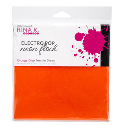 Orange Glow, Rina K Designs Flock Transfer Sheets -