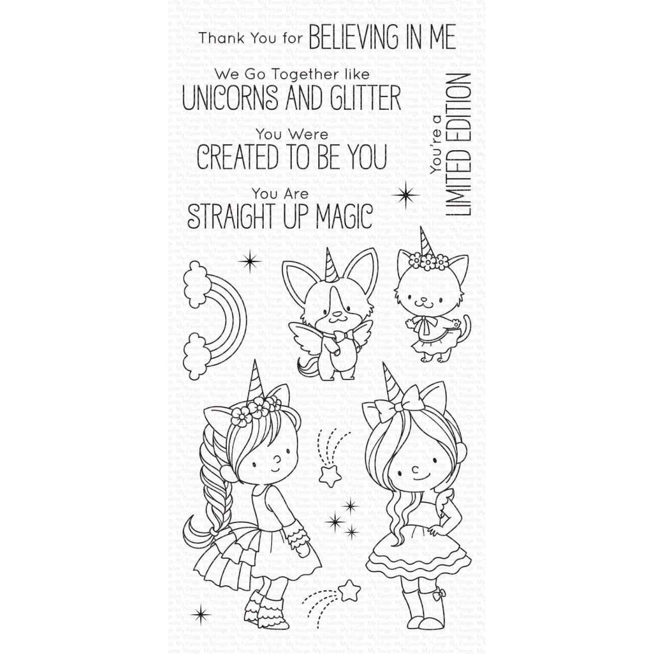 Unicorns and Glitter by Birdie Brown, My Favorite Things Clear Stamps - 849923026137