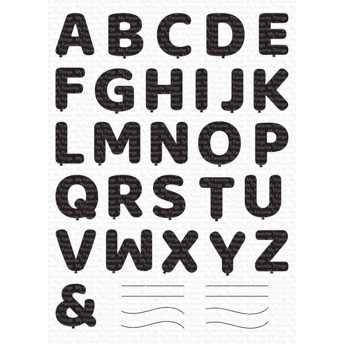 Pumped-Up Alphabet, My Favorite Things Clear Stamps - 849923034668