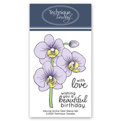 Alluring Orchid, Technique Tuesday Clear Stamps - 811784028339