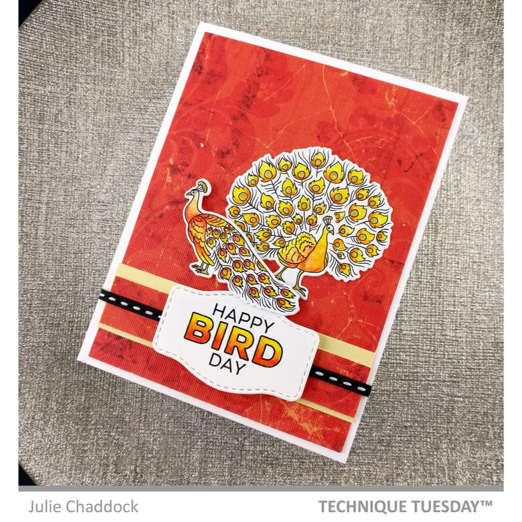 Pretty Peacock, Technique Tuesday Clear Stamps - 811784028353