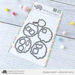 Zodiac Sheep, Mama Elephant Creative Cuts -