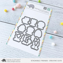 Stackable Friends, Mama Elephant Creative Cuts -