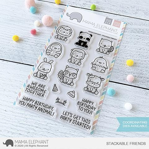 Stackable Friends, Mama Elephant Clear Stamps -
