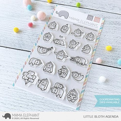 Little Sloth Agenda, Mama Elephant Clear Stamps -