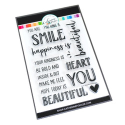 Smile, Beautiful Sentiments, Catherine Pooler Clear Stamps - 819447026944