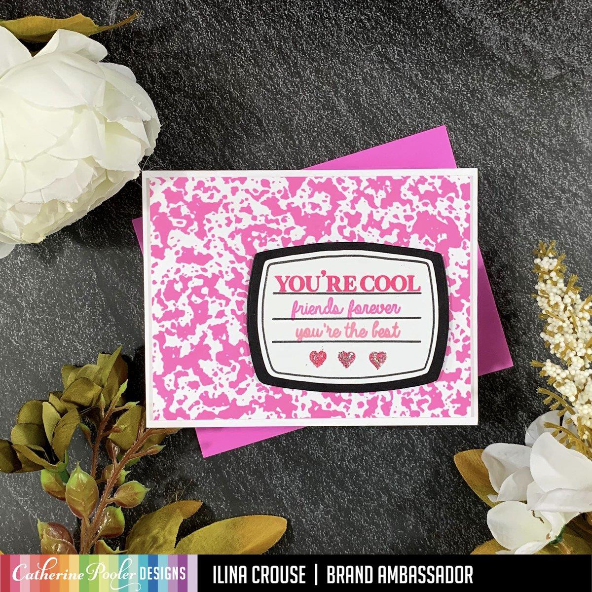 Composition Notebook Background, Catherine Pooler Cling Stamps - 819447026582