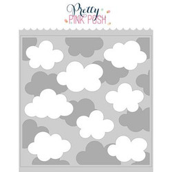 Layered Clouds, Pretty Pink Posh Stencils -