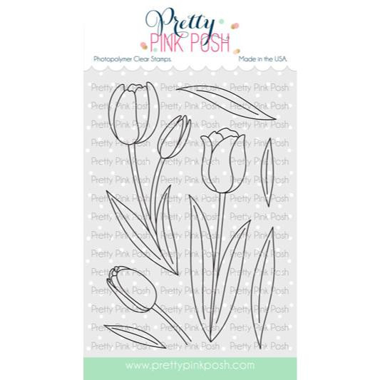 Tulips, Pretty Pink Posh Clear Stamps -