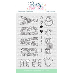 Baby, Pretty Pink Posh Clear Stamps -