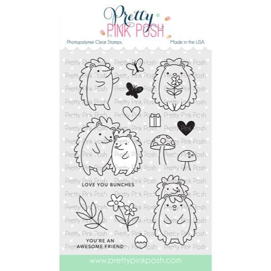 Hedgehog Friends, Pretty Pink Posh Clear Stamps -