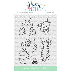 Ladybug Friends, Pretty Pink Posh Clear Stamps -