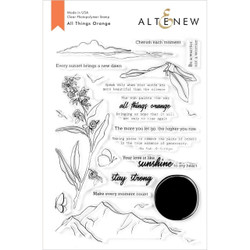 All Things Orange, Altenew Clear Stamps - 737787260883