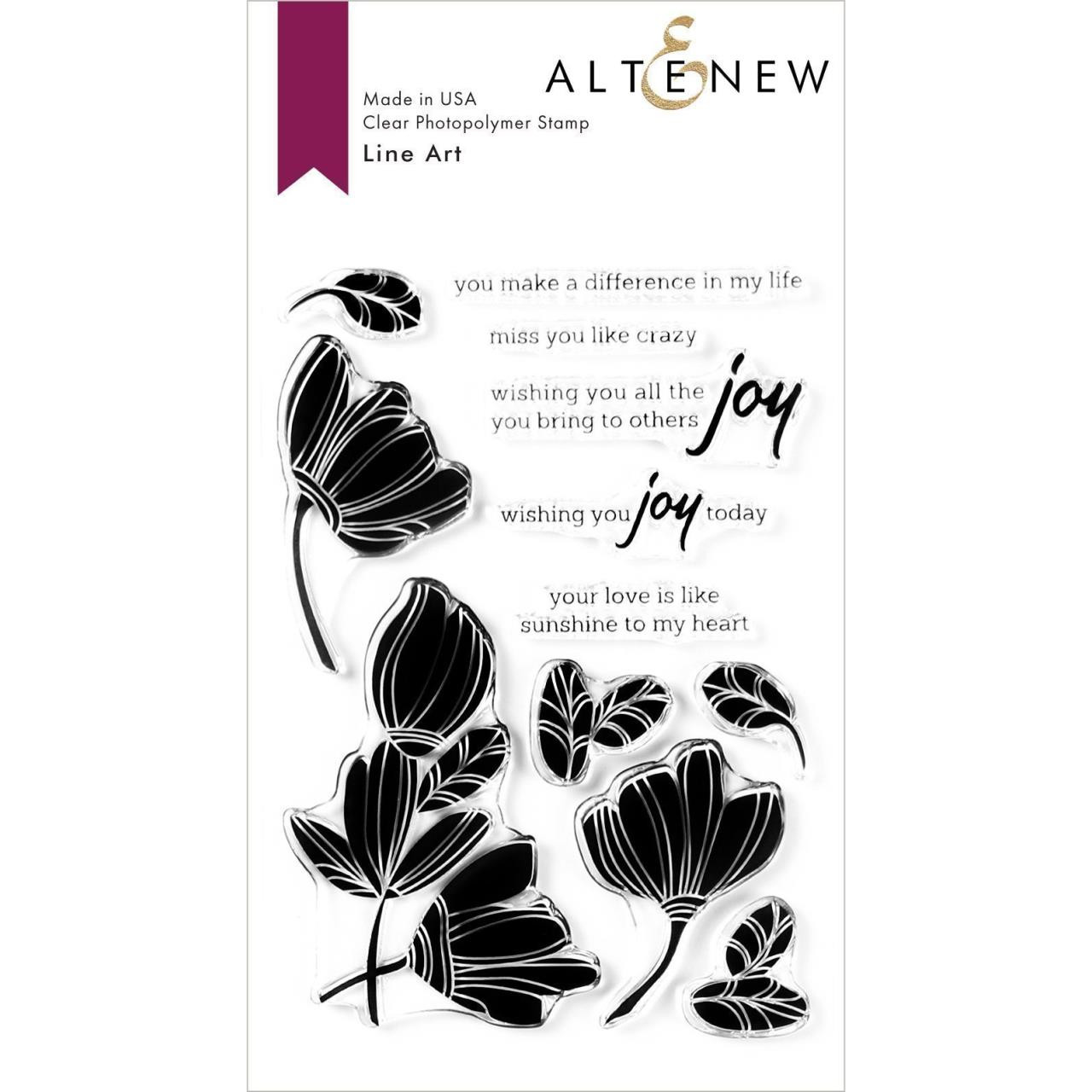 Line Art, Altenew Clear Stamps - 737787260982