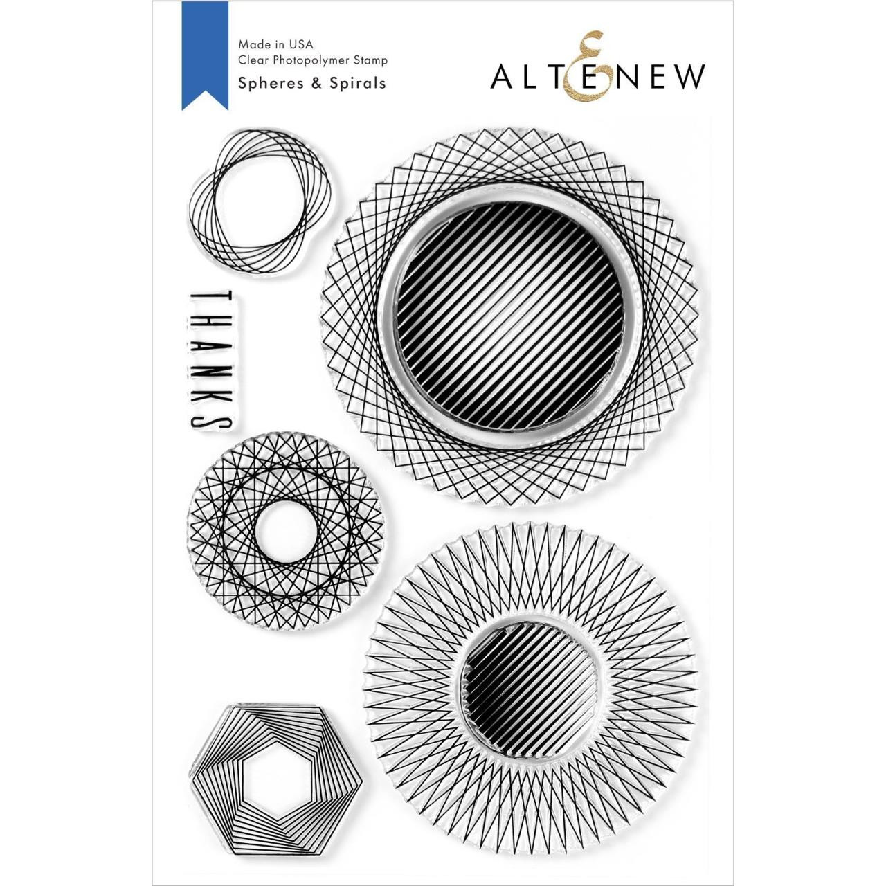 Spheres & Spirals, Altenew Clear Stamps - 737787261040