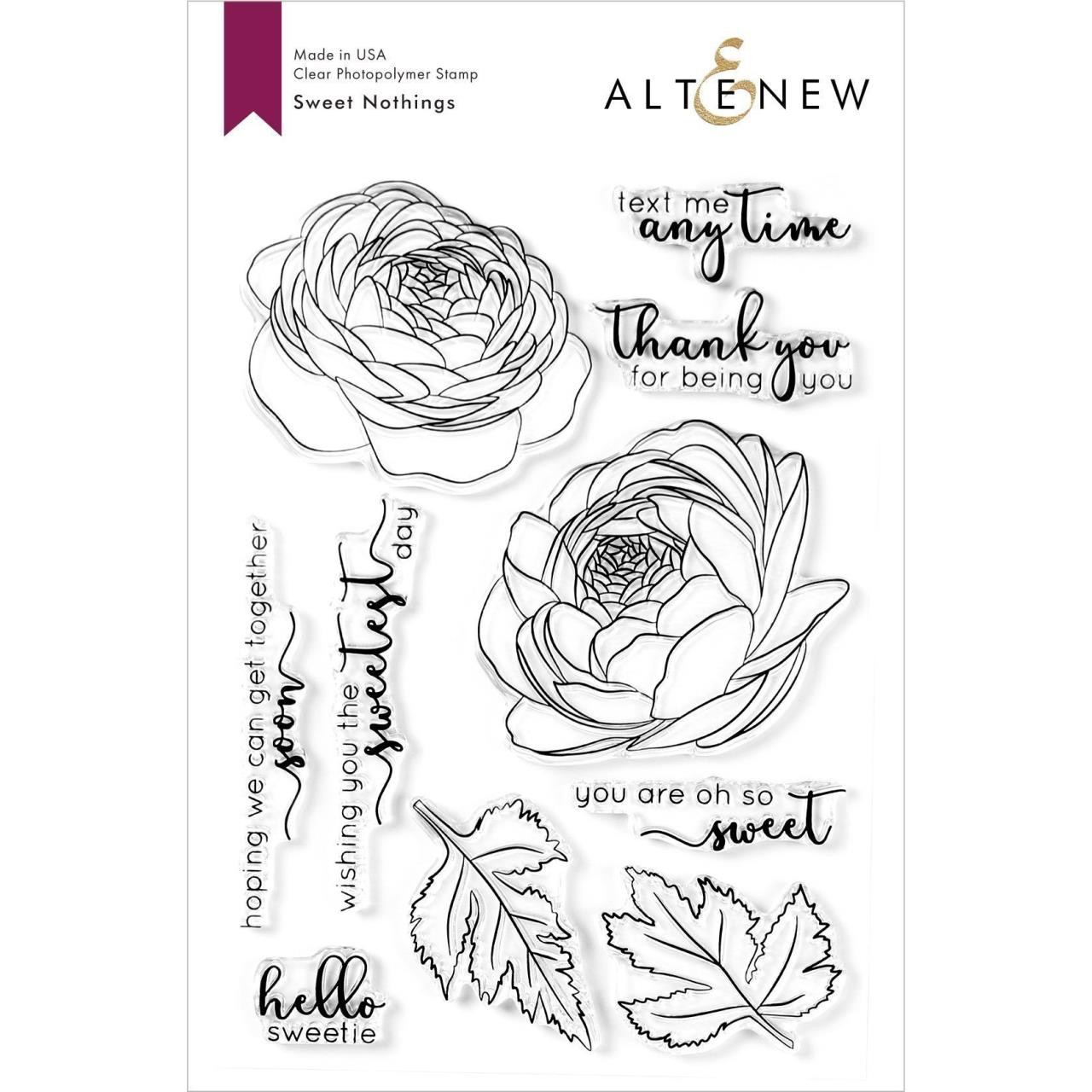 Sweet Nothings, Altenew Clear Stamps - 737787261071