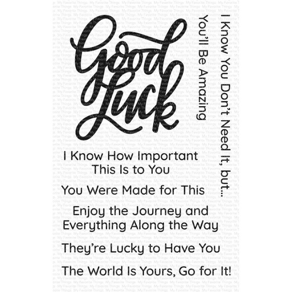 Good Luck Greetings, My Favorite Things Clear Stamps - 849923034903