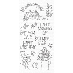 Mother's Day Bouquet, My Favorite Things Clear Stamps - 849923034941