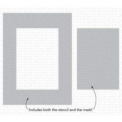 Rectangle Extraordinaire, My Favorite Things Stencils - 849923034989