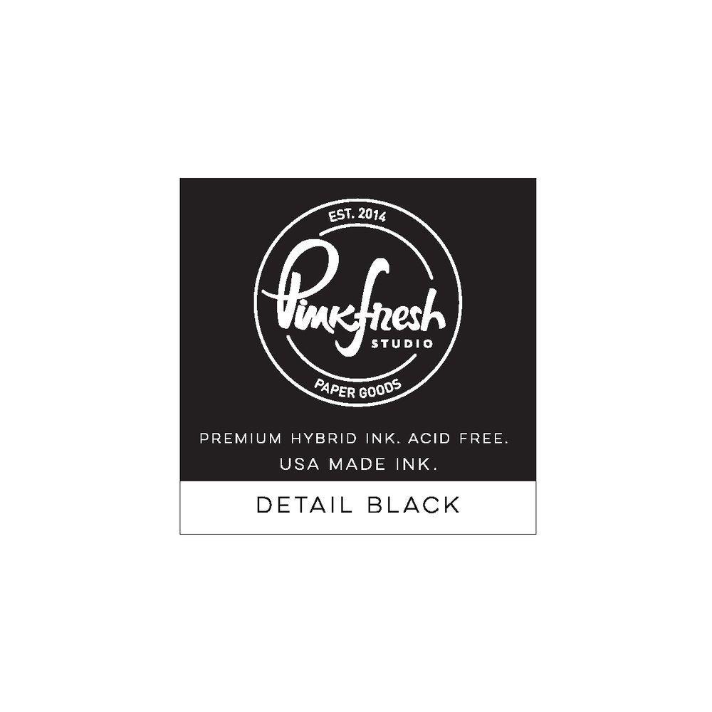 Detail Black, Pinkfresh Studio Hybrid Ink Cube -