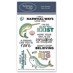 Nancy & Nick the Narwhals, Technique Tuesday Clear Stamps - 811784028407