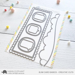 Slim Card Basics, Mama Elephant Creative Cuts -