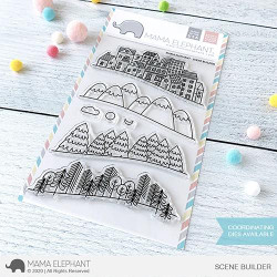 Scene Builder, Mama Elephant Clear Stamps -