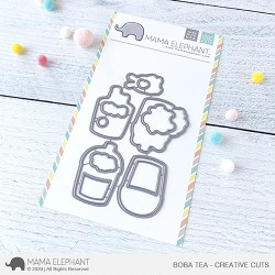 Boba Tea, Mama Elephant Creative Cuts -