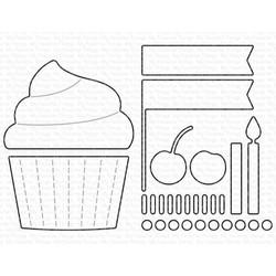 Cupcake and Sprinkles, My Favorite Things Die-Namics - 849923034477