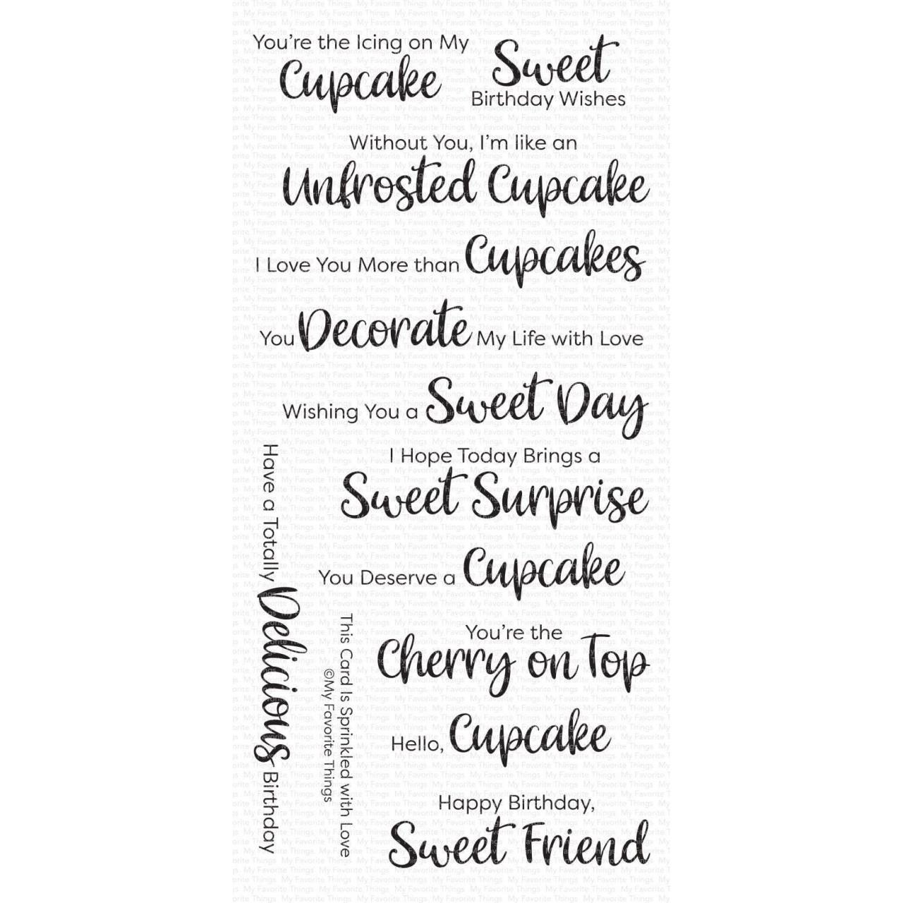Sugar-Coated Sentiments, My Favorite Things Clear Stamps - 849923034408