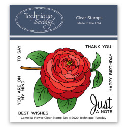 Camellia Flower, Technique Tuesday Clear Stamps - 811784028384