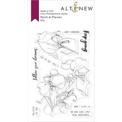 Paint-A-Flower: Iris, Altenew Clear Stamps - 737787261552