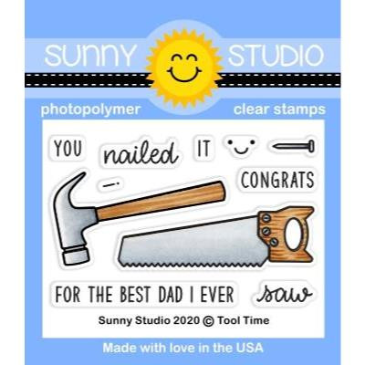 Tool Time, Sunny Studio Clear Stamps -